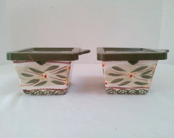 """Vintage Temp-tations Pattern """"Old World"""" Oven-to-Table Set of Two 10-oz. EZ Holds"""