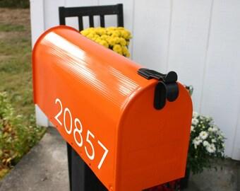 Modern Numbers Custom Mailbox Decal
