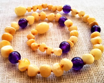 Amber teething necklace, Baltic amber, Baby Amber Necklace, Amber Necklace, Baby Boy /Girl Necklace, Amber Jewelry, Children Necklace,