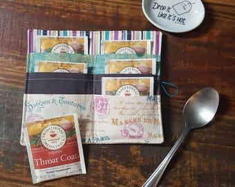 Tea Wallet - Vintage Stamps