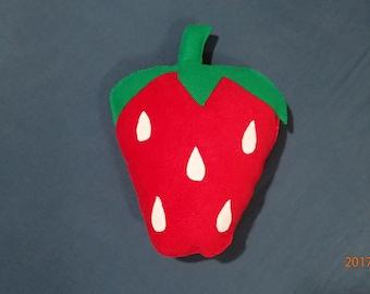 Strawberry, fleece pillow