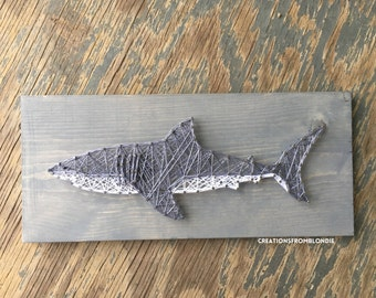 Shark String Art Sign, MADE TO ORDER