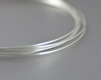 Sterling Silver Half Hard Round Wire 20 Gauge - 5 feet