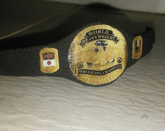 Handmade World Heavyweight Champion title belt.
