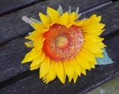 Sunflower silk wedding bu...