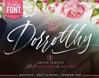 Dorrotthy script: 3 handwritten fonts with swashes