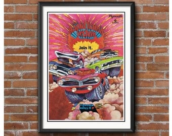 Rapid Transit System Promotion Poster – Cuda Duster GTX Road Runner etc