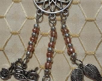 Daryl Dixon Dream Catcher Necklace The Walking Dead Tibetan Silver Handmade