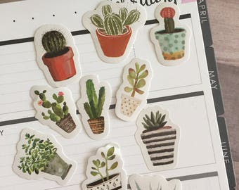 Planner Sticker Set (Potted Plants)