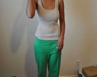 Vintage 1970s/1980s Lime Green Stretch Pants