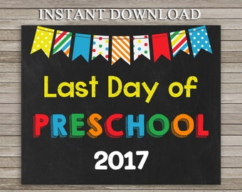 This is a graphic of Crafty Last Day of Preschool Printable