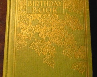 LONGFELLOW BIRTHDAY BOOK Antique Poetry 1910 Ephemera Journal Record with Daily Verses and Phrases
