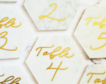 Marble table numbers