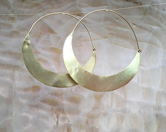 Large 18ct Gold plated Hoops