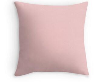 Blush Pillow Cover Rose Quartz Pink Pantone Color Home Apartment Dorm Room Decor 14x14 16x16, 18x18, 20x20 26x26 Square