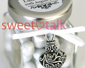 Wedding Favour, Bomboniere - Chocolates Candy Jar - INCLUDES CHOCOLATES & Personalised Label