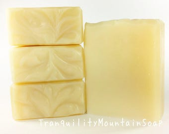 UNSCENTED SOAP Bar, All Natural Soap, Sensitive Skin Soap, Pure Soap, Gentle Soap Fragrance Free Soap Scent Free Soap Face And Body Lye Soap