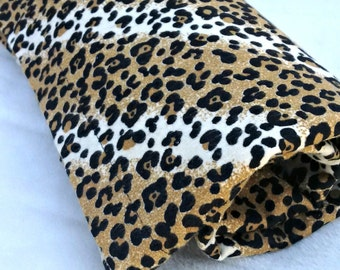 Leopard Animal Print Baby Flannel Wrap Swaddle Hospital Receiving Blanket, Baby Wrap Swaddle, Flannel, Baby Shower Gift, Unique Baby Gift
