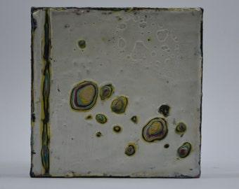 Scratch Card - a 5x5 encaustic original piece