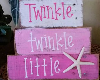 Pink and white twinkle with natural starfish