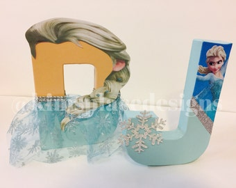 FROZEN Party Decorations, Frozen Birthday Party, Decorative Letters, Elsa, Anna, Birthday Party Decorations, Princess Party Decorations