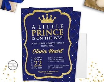 Royal Baby Shower Invitation Diaper Invitation Prince Baby