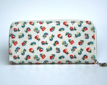 Womens Wallet, Leather Wallet, Floral Wallet, Floral printed Purse, Floral Leather Purse, Floral Leather Wallet.