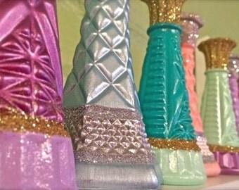 Princess Party, Decor, Favors, Birthday, Bud Vases, Glitter, Disney Princess, Frozen, Elsa, Ariel, Cinderella, Jasmine, Belle