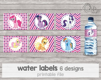 Printable My Little Pony water bottle labels