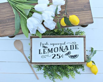 Fresh Lemonade Wood Sign,Lemonade signs, Farmhouse signs,wood signs,wood sign,modern farmhouse,Home and Living, Wall Decor,Shiplap