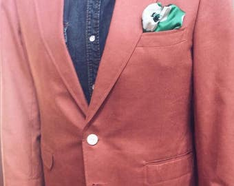 Coral colored sport coat