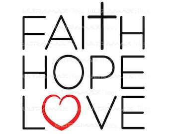 Faith Hope Love - Vinyl Cutter Design File: (SVG, PNG, Silhouette, Cricut, Roland)
