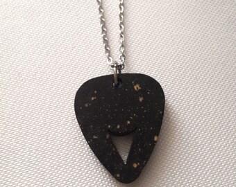Guitar pick necklace for men,man boyfriend and musician guitar plectrum