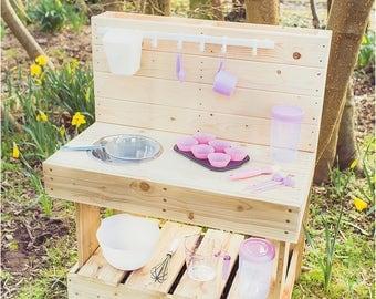 My MUD CAKE Kitchen - Outdoor Wooden Play Kitchen