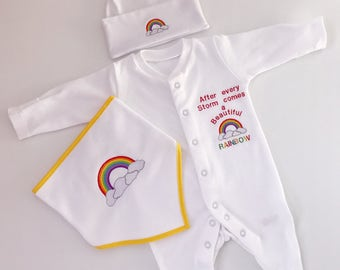 Rainbow Baby Clothes, baby shower gifts, Rainbow baby, baby Girl clothes, Baby boy clothes, baby Rompers, Baby Hats, baby shower gift,