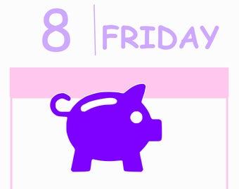 42 Piggy Bank Stickers