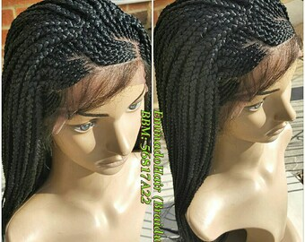 Braided Wig, wholelace/full lace unit cornrow unit. Black. Braidwig, Braidswig. 18/20 inches