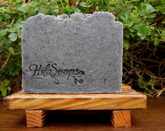 Charcoal Soap, Bamboo Activated Charcoal Soap , Detox Soap, Facial Soap, Scrub soap, Hot Process Soap, Gift For Men, Tea Tree Soap, Spa Soap