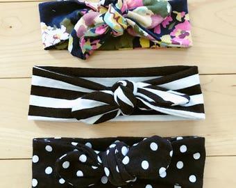 Cute Baby Headwrap / Newborn Knot Headband / Toddler Headband