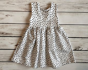 White and Black Dot Dress // Dot Peplum Top // Baby Dress // Toddler Dress // Baby Peplum Top // Toddler Peplum Top // Gift Idea