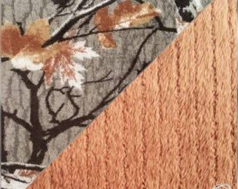 Baby Blanket, Fluffy Baby Blanket, Camo/Brown, Camo/Stripe Brown, Camo/White, Ultra Fluffy