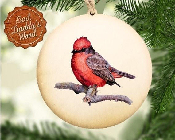 Cardinal Ornament Wood Ornament Bird