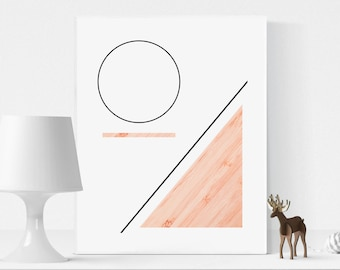 Geometric Wall Art, Printable Geometric Art, Geometric photo, Abstract print, Minimalist print, Modern Wall Decor, scandinavian design