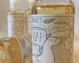 Liquid Castile Soap { Liquid Soap / Natural Soap / Castile Soap / Natural Cleansers }