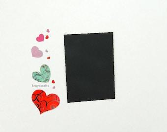 Set of 24   110 Lb Black Deckle Edge Paper   Deckle Edge Cardstock   Rectangle Deckle Paper   Rough Edge Flat Card   Rough Edge Card Layer