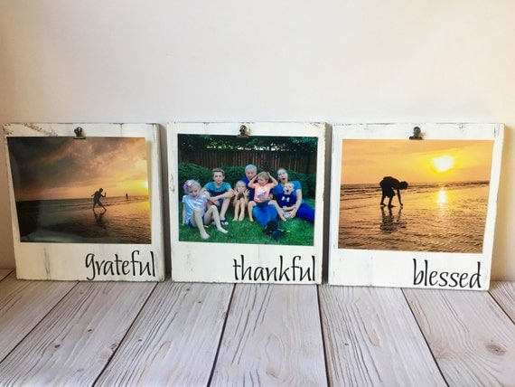 Grateful Thankful Blessed Picture Frame Set Picture