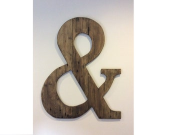 Huge Ampersand wooden sign Ampersand symbol Ampersand wall art Custom sogn Wall art Wedding signs Wooden letters Wooden initials And sign ru