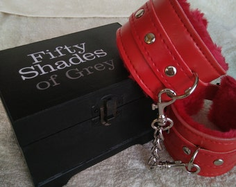 Fifty Shades of Grey, Box, with Handcuffs, LAST ONE!, Fifty Shades of Grey insipired, Christian Grey,  Erotic,  Fifty shades darker