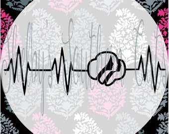 Heartbeat - Girlscout - SVG.EPS.PNG.dxf