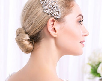 Wedding Hair Comb Crystal Silver Headpieces Wedding Hair Accessories Bridal Rhinestone Hair Comb
